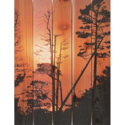 Gizaun Art Ocean Forest Indoor/Outdoor Full Color Cedar Wall Art