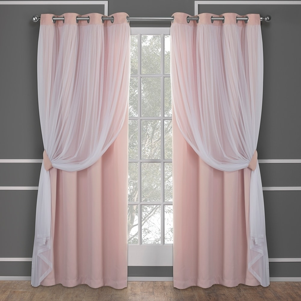 Exclusive Home Catarina Layered Solid Blackout and Sheer Window Curtain Panel Pair with... by Amalgamated