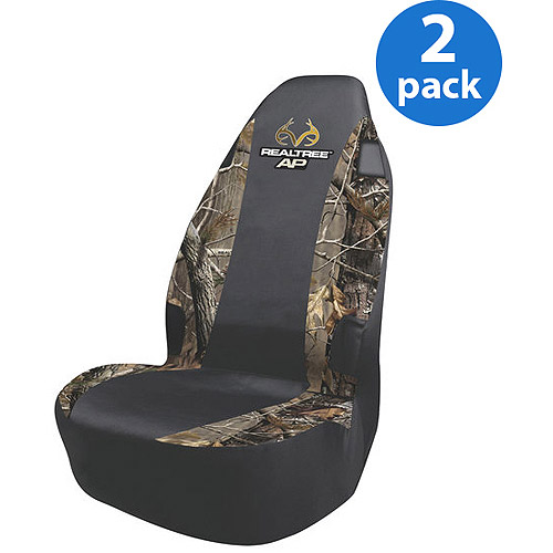 Realtree AP Camo Universal Seat Cover, 2 Pack Bundle