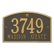 Personalized Whitehall Products Cape Charles 2-Line Standard Wall Plaque in Bronze/Gold