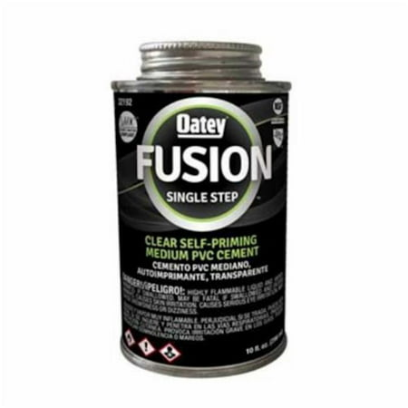 Oatey 32192 Fusion One-Step Clear Medium-Bodied Pvc Cement, 10 oz, Pvc Clear