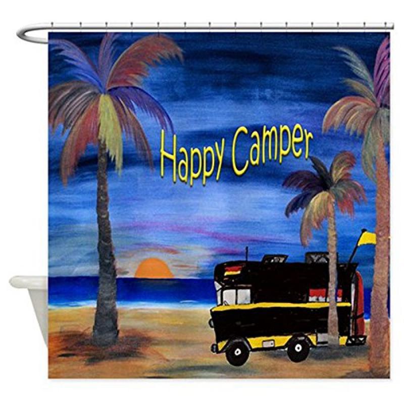 Happy Rv Camper Shower Curtain
