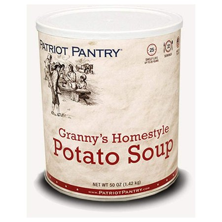 Patriot Pantry Granny's Homestyle Potato Soup (32 servings) #10 Can Bulk Emergency Storage Food Supply, Up to 25-Year Shelf Life - Supply Store