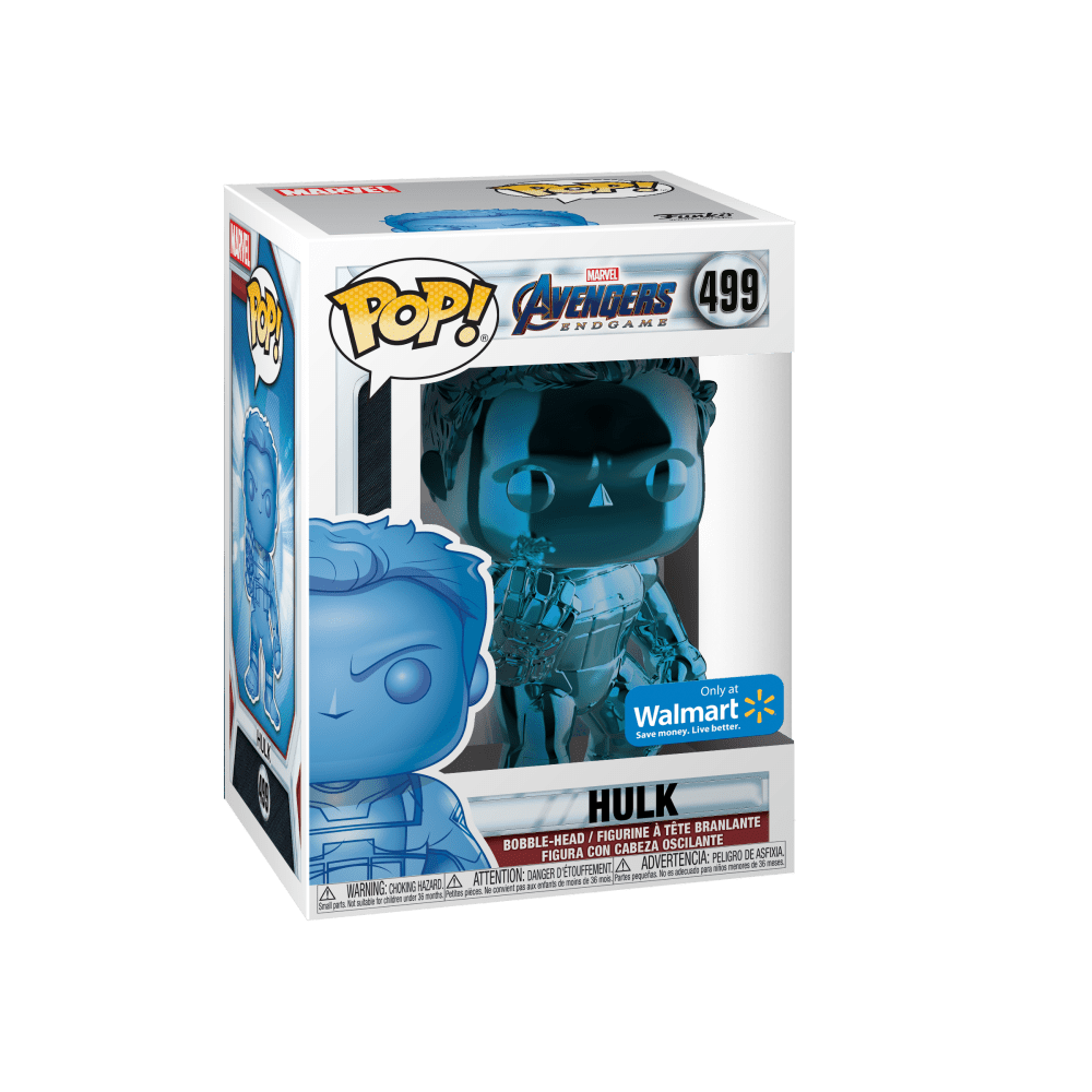 Funko POP! Marvel: Avengers Endgame - W2 - Hulk (Blue Chrome) (Walmart Exclusive)