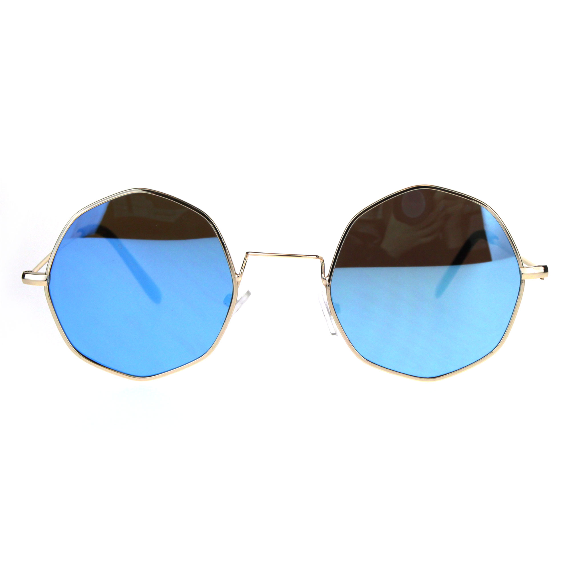 Octagon Metal Wire Rim Pimp Hippie Sunglasses