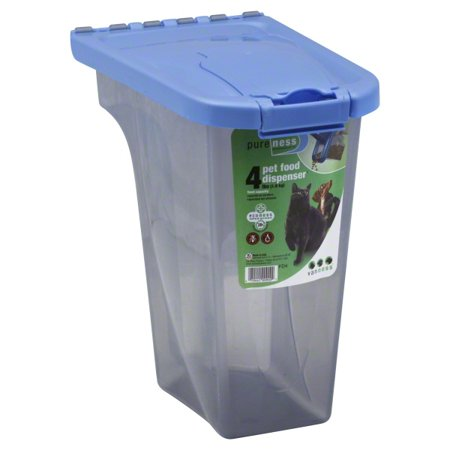 Pureness 4 Pound Capacity Pet Food Dispenser, (Dog Food Storage Dispenser)