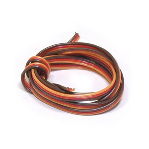 Heavy Duty Servo Wire Only,4' Multi-Colored
