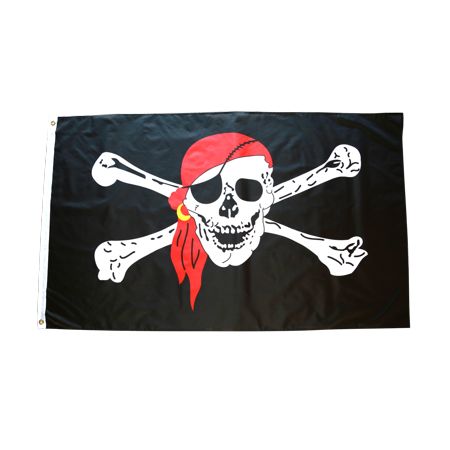 3x5 Foot Pirate Flag Double Stitched Jolly Roger Flag with Brass Grommets   3 by 5 Foot Premium Indoor Outdoor Polyester Banner Flag (Cheap Pirate Flags)