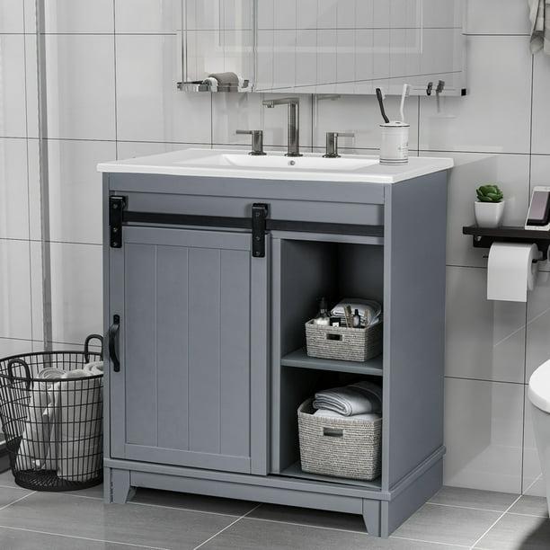 Toyosun Free Standing Bathroom Vanity, Free Standing Bathroom Sink Vanity
