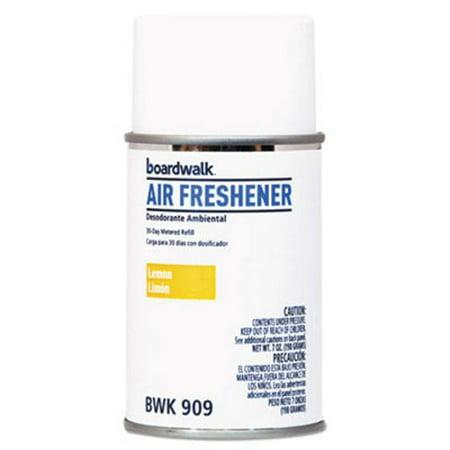 Boardwalk Metered Air Freshener Refill, Lemon, 5.3-oz Aerosol, 12 Cans (BWK909)
