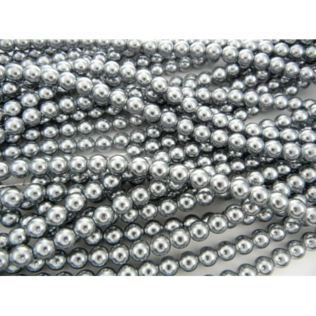 Raspberry Glass Pearls (UnCommon Artistry Glass Pearl Beads 200pcs 6mm - Silver )