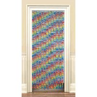 Hawaiian Luau Hibiscus Deluxe Door Curtain (1ct)
