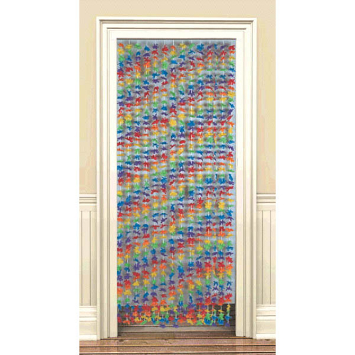 Hawaiian Luau Hibiscus Deluxe Door Curtain (1ct)