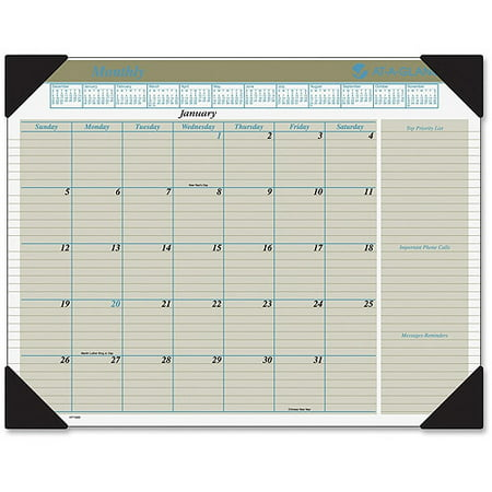 Seascape Monthly Desk Pad Calendar (At-A-Glance Executive Monthly Calendar Desk)