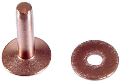 """Copper Rivets and Burrs 3//8/"""" to 3//4/"""" Mixed Sizes no 8 Gauge 100g FREE POST"""