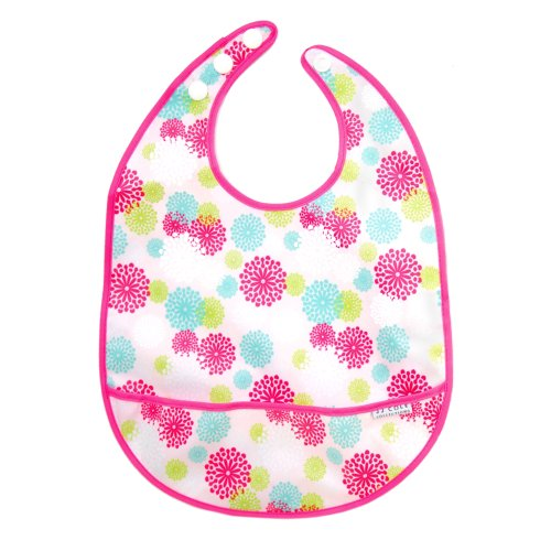 JJ Cole Large Bib, Pink Blush Multi-Colored