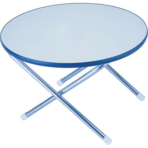 "Garelick Folding Deck Table Melamine Top Series, 24"" Round"