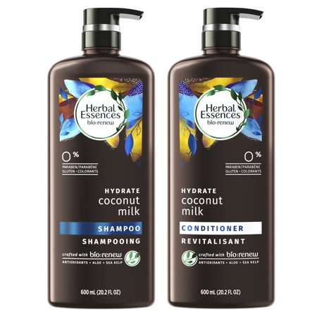 Herbal Essences Bio:Renew Coconut Milk Shampoo and Conditioner Set, 20.2 fl oz Each