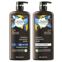 Herbal Essences Bio:Renew Coconut Milk Shampoo and Conditioner Set, 20.2 fl oz Each