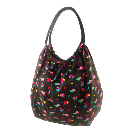 Mini Hearts Bubble Bag, Black