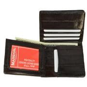 Eel skin Men's bifold credit card/ ID wallet Brown