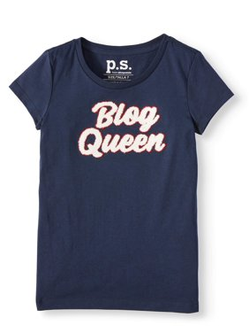 p.s.09 from aeropostale 3D Chenille Graphic T-Shirt (Little Girls & Big Girls)