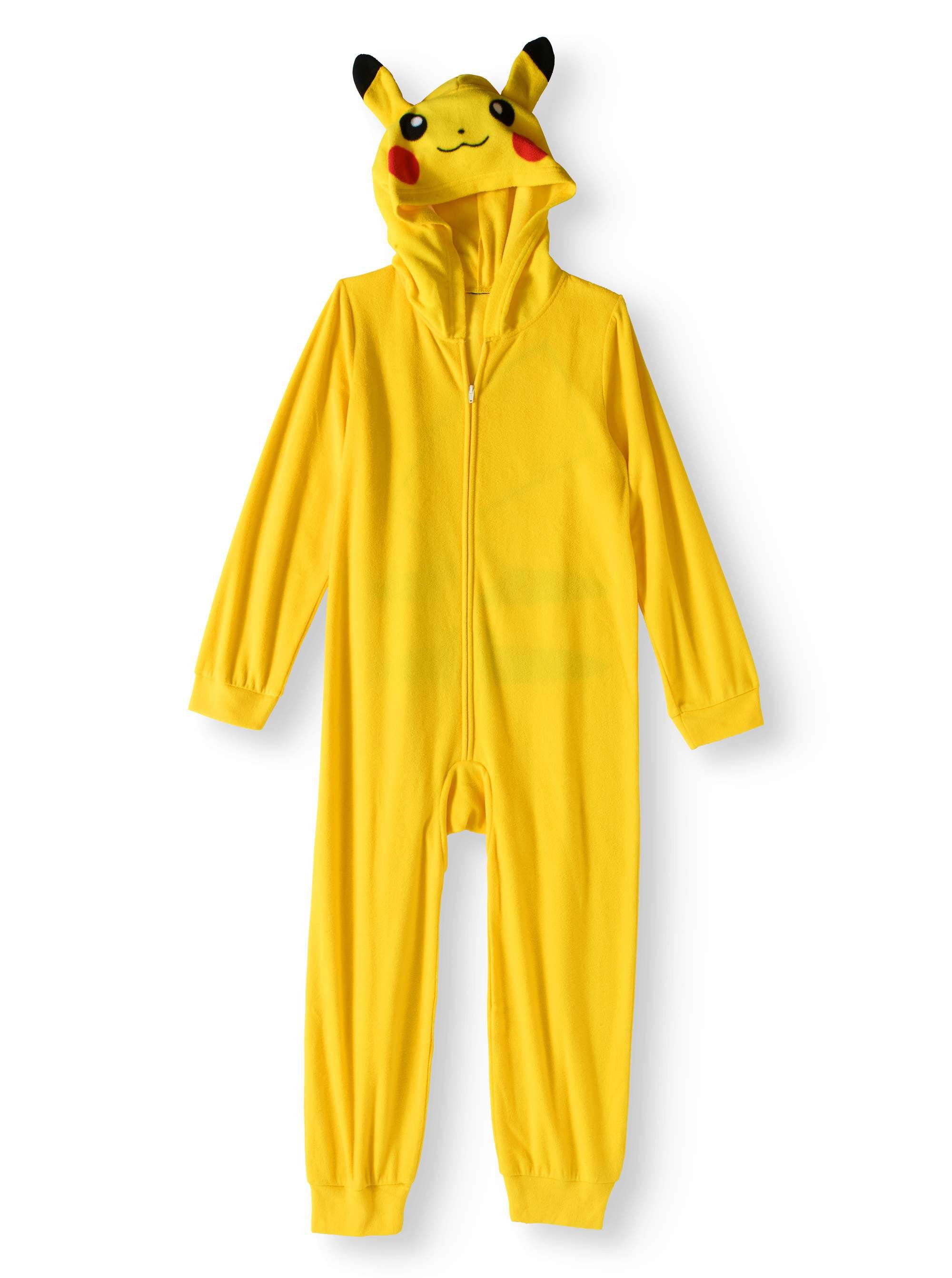 82089a43f Pokemon - Boy s Pokemon Pikachu Hooded Onesie (Big Boys   Little ...