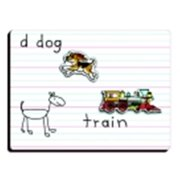 Patch Lined Magnetic Board - 9 x 12 in.