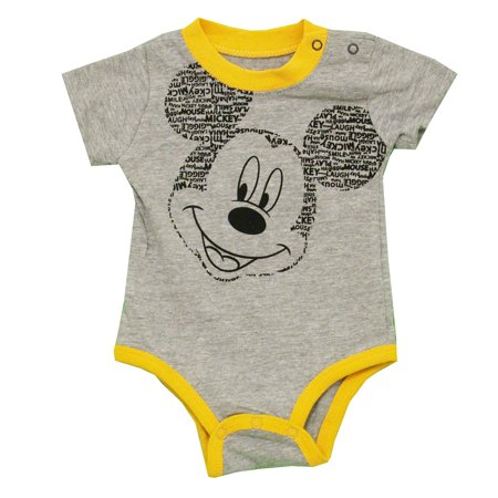 Mickey Mouse Word Ears Disney Cartoon Baby Creeper Romper Snapsuit](Baby Mickeymouse)
