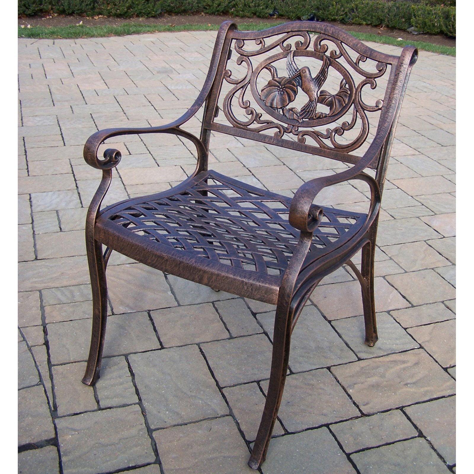 Oakland Living Hummingbird Cast Aluminum Arm Chair