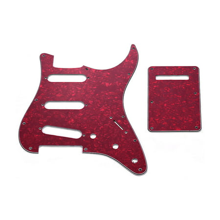 SSS Electric G3 Ply SSS Electric Guitar Pickguard Set with Back Plate Screws Pick Guard for American ST Style Guitars Black Pearl - image 1 of 6