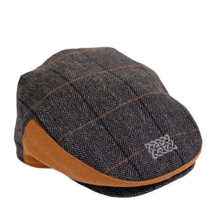 0409a99f0aa68 Patrick Francis - Grey Tweed Celtic Knot Kids Flat Cap - Walmart.com