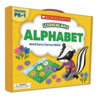Scholastic Learning Mats Kit, Alphabet Game, 70 Cards, Ages 3 and Up
