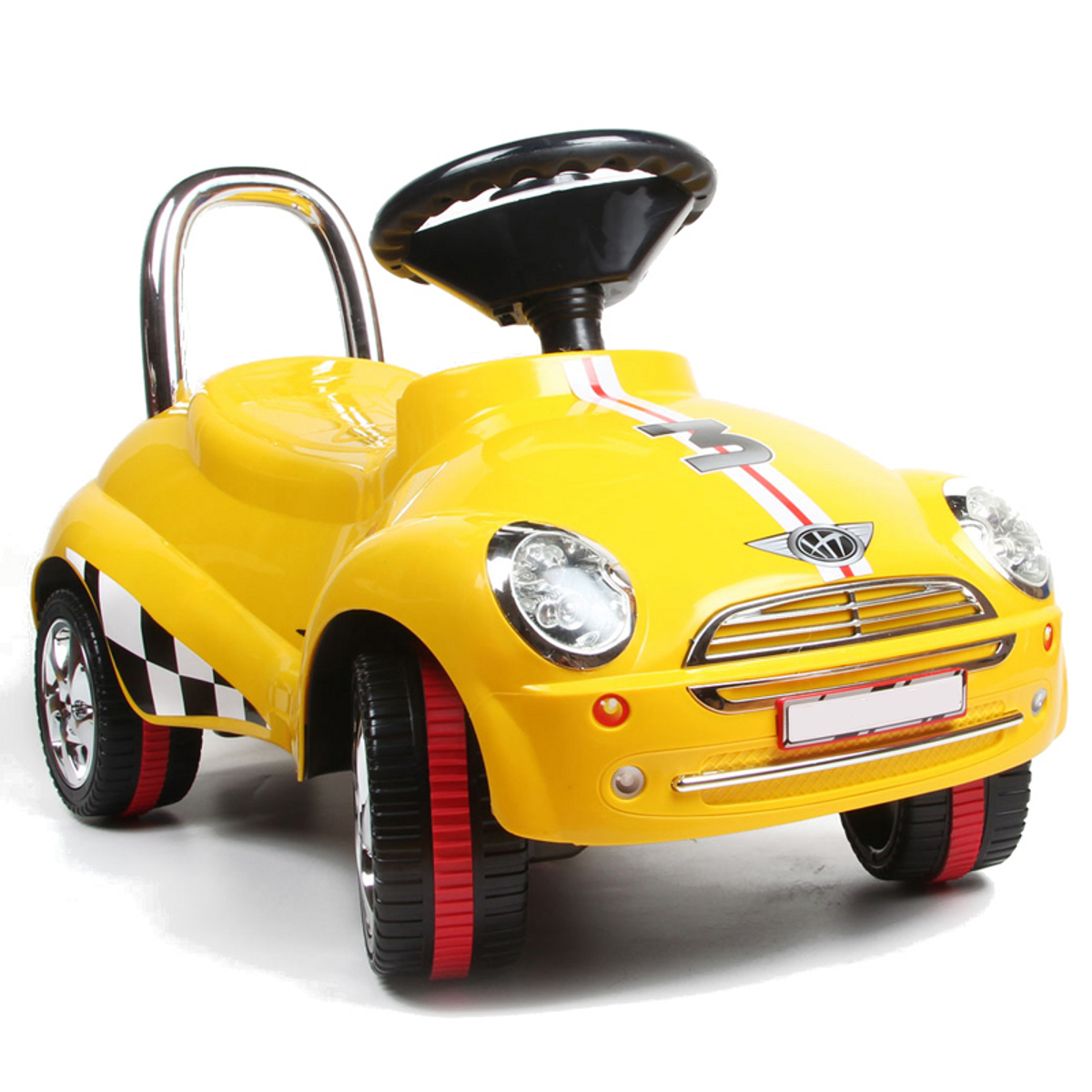 POCO DIVO Ride On Car Toy 3-in-1 Walker Scooter Pulling Cart with Sound & Light by