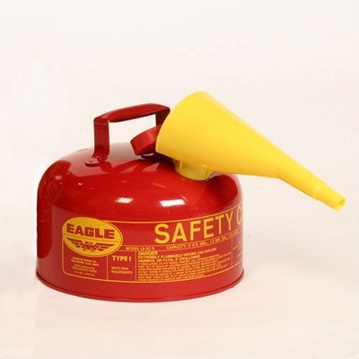 Eagle SAFETY DIESEL CAN,2GL,W/FUNNEL