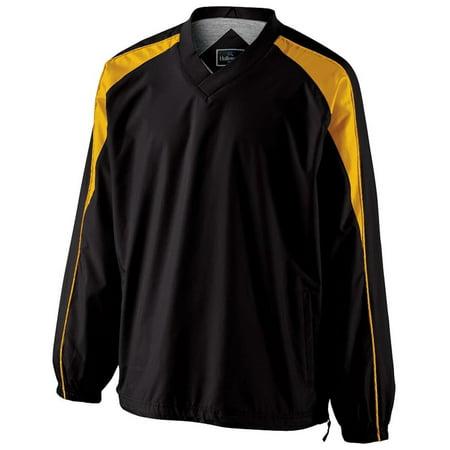 "Mens Holloway ""Victory"" LS Pullover Shirt Jacket Athletic Team Coach Warmup"