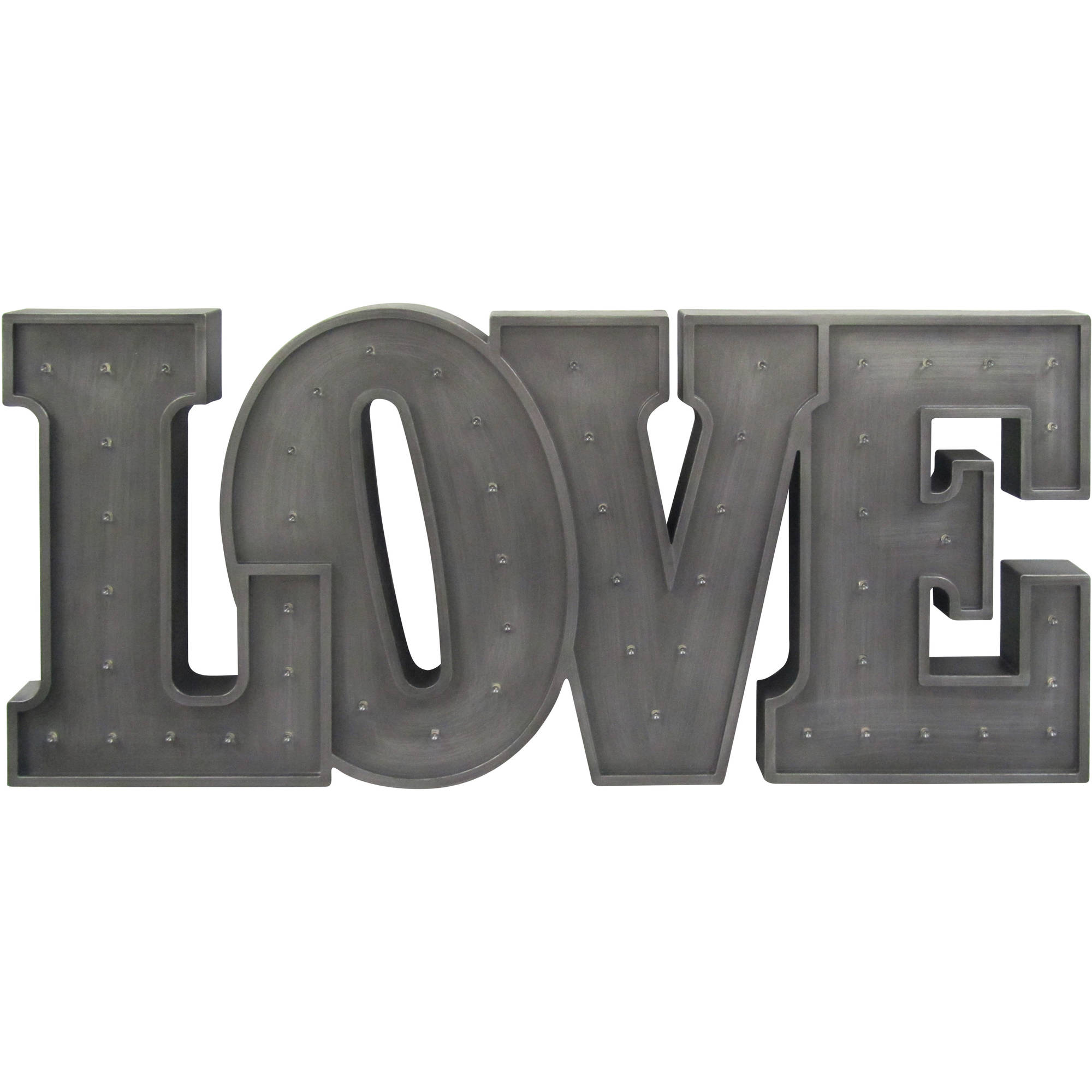 Light Up Wall Art decorative light up love wall art - walmart