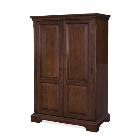 Riverside Cantata Computer Armoire Burnished Cherry