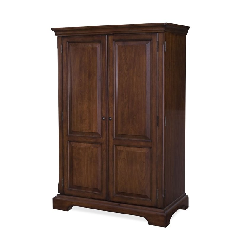 Riverside Cantata Computer Armoire In Burnished Cherry