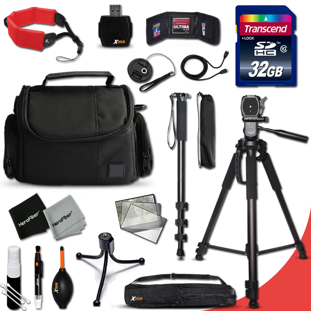 "Complete ACCESSORIES Kit for Nikon D750, D5500, D5300, D5200, D3300, D3200, D7100, D7000, D810A, D800, D610, D810, D600, D3100, D5100 DSLR Cameras Includes: 32GB Memory Card + Pro Grade 72"" Tripod…"