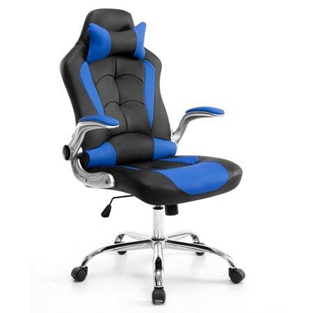 High Back Ergonomic Pu Swivel Chair Computer Desk Lumbar Support Chair Nappin