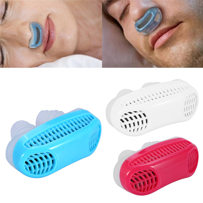 Anti-Snoring Device Silicone Nose Clip Air Purifier Filter Snore Stopper Relieve Snore Stopper Guard Easy Sleeping Aid Clip Nasal Dilator Ease Breathing And Snoring Blue
