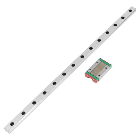 Garosa 1pc MGN12H Miniature Linear Rail Guide 350mm Length 12mm Width + Slide Block , Linear Rail Carriage ,  Linear Motion Rail - image 2 of 7
