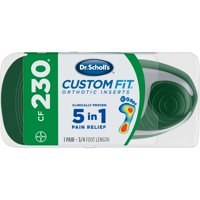 Dr. Scholl's Custom Fit CF230 Orthotic Shoe Inserts for Foot, Knee and Lower Back Relief, 1 Pair