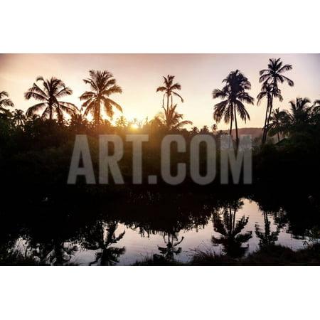 Tropical Village in Goa Print Wall Art By Marina Pissarova