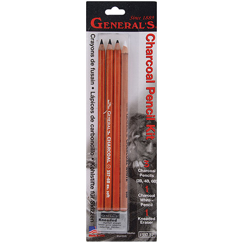 General Pencil Charcoal Pencil Kit, 5-Pack