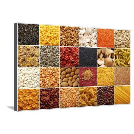Food Ingredients Collection Stretched Canvas Print Wall Art By ibogdan Ingredients Store Collection