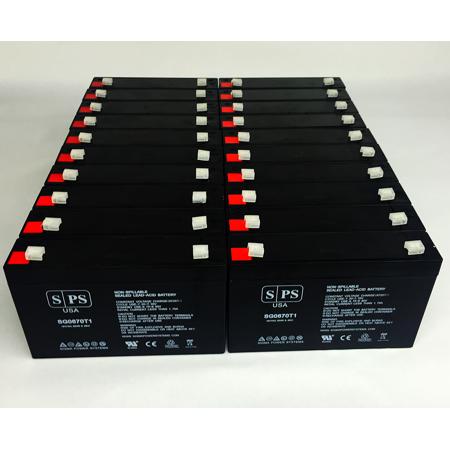 SPS Brand 6V 7 Ah Replacement Battery for Makita 9.6v BMR100, 9120, 6222D, 6260D, 6226D (20