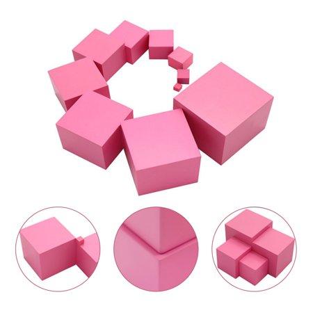 LeKing pour Montessori rose tour mathématiques jouet formation sensorielle blocs de construction en bois jouet d'éducation précoce - image 8 de 8