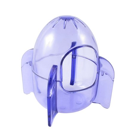 Clear Blue 2 Entrance Holes Hamster Gerbil Mouse House Cage Playhouse - image 3 of 4